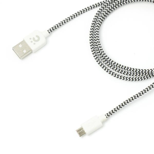 マイクロUSB ケーブル チーロ cheero Fabric braided USB Cable with micro USB 50cm + 100cm 2本セット 充電 / データ転送 cheeromart 03