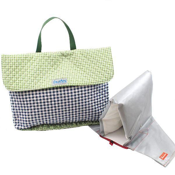 ネイビーチェック 防災頭巾カバー 安心 安全 日本製《入園・入学》