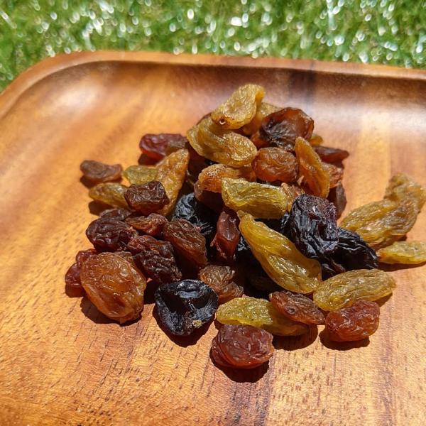 ミックスレーズン 200g 栽培期間中 農薬不使用 レーズン グリーン レーズン 緑レーズン ドライフルーツ 砂糖不使用 無添加 ふどう 無糖 ペルシャ産 干しぶどう