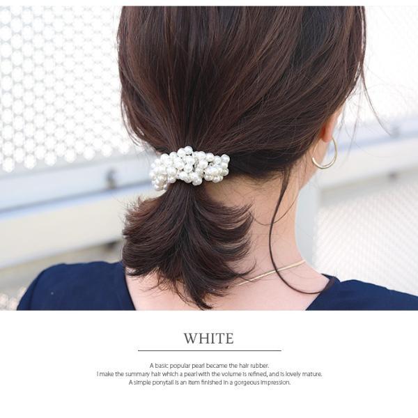 【SALE】ヘアゴム パール ホワイト 結婚式 パーティー ポイント消化 cherie-store 16