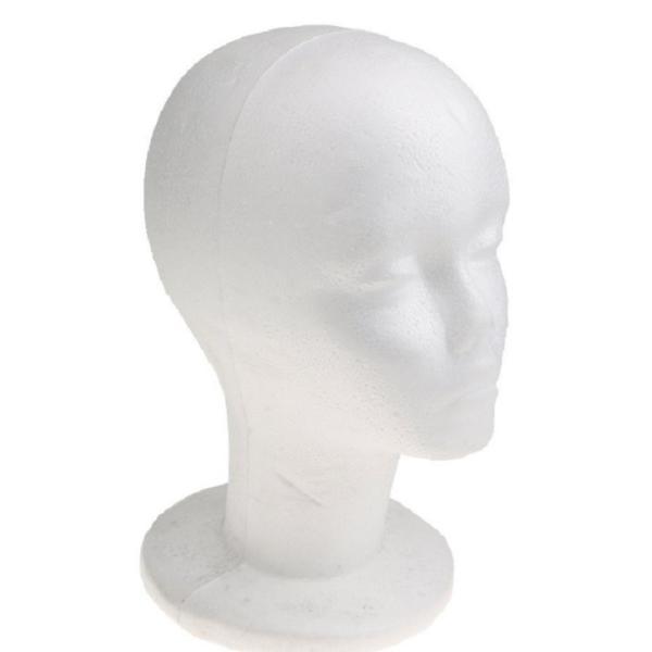 マネキン トルソー 人形 ヘッド 軽量 女性 頭部 発泡スチロール ウィッグ 展示|cherry-tree|02
