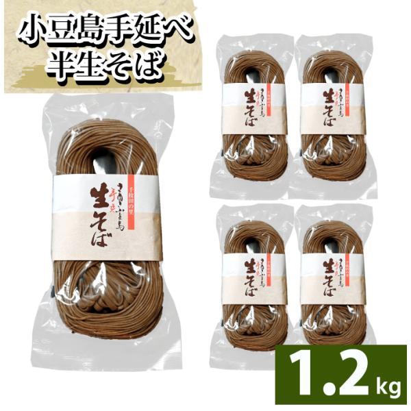 船波製麺所  そば 半生そば 讃岐 店長いち押し 250g ×5袋セット 1.2kg 半生そうめん 小豆島 ソバ 蕎麦 食品 ストック 生と書いてありますが半生です