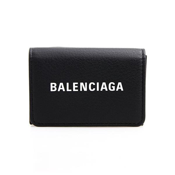 バレンシアガ BALENCIAGA 財布 ミニ財布 三つ折り財布 ブラック 黒 黒 EVERYDAY L MINI WALLET 551921 DLQ4N 1000 BLACK/L WHITE|chgardens