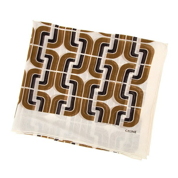 CELINE(セリーヌ)『SCARF IN SILK WITH GEOMETRICAL WALLPAPER PRINT 2AWF1 395H 12BR』