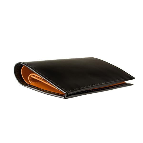 エッティンガー ETTINGER 財布 メンズ 二つ折り財布 ブラック 黒 ブライドルレザー PURSE NOTECASE WITH 4 C/C SLOTS BH179JR BLACK BRIDLE HIDE COLLECTION|chgardens|03