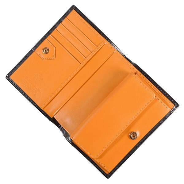 エッティンガー ETTINGER 財布 メンズ 二つ折り財布 ブラック 黒 ブライドルレザー PURSE NOTECASE WITH 4 C/C SLOTS BH179JR BLACK BRIDLE HIDE COLLECTION|chgardens|04