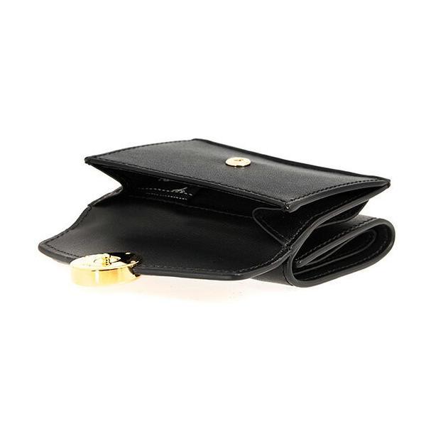 フェンディ FENDI 財布 レディース 三つ折り財布 ミニ財布 F IS FENDI MICRO TRIFOLD WALLET エフ イズ フェンディ ブラック 黒 8M0395 A0KK F0KUR NERO+ORO SOF