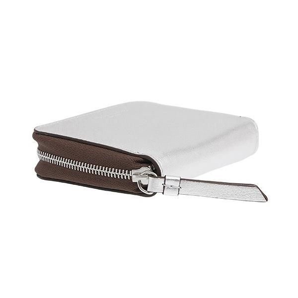 ジェイアンドエムデヴィッドソン J&M DAVIDSON 財布 レディース ラウンドファスナー二つ折り財布 シルバー SQUARE ZIP WALLET 10186N 7300 1100 SILVER