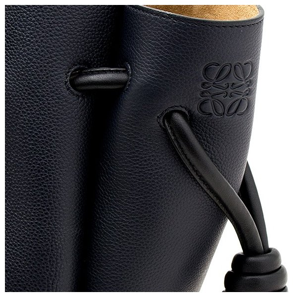 ロエベ LOEWE バッグ レディース トートバッグ ブラック 黒  FLAMENCO KNOT TOTE SMALL BAG 321 12 T31 5605 MIDNIGHT BLUE/BLACK