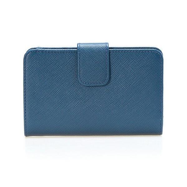 プラダ PRADA 財布 レディース 二つ折り財布 ブルー WALLET ZIP AROUND 1ML225 QWA F0016 BLUETTE