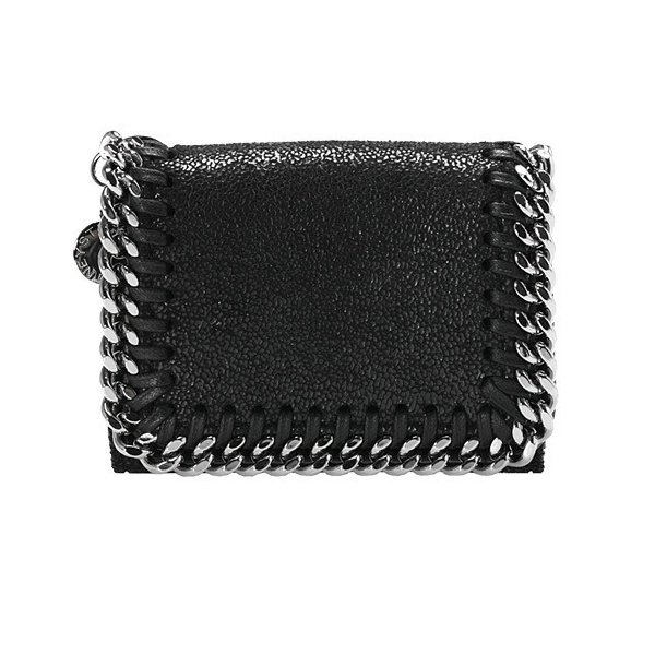 ステラマッカートニー STELLA McCARTNEY 財布 レディース 三つ折り財布 ミニ財布 ブラック 黒 FALABELLA MINI WALLET ファラベラ 521371 W9132 1000 BLACK