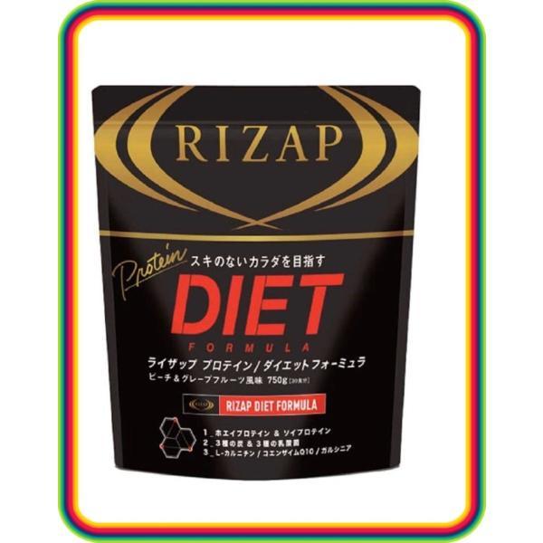 RIZAP ライザップ プロテイン フォーミュラ 30食 1袋 ピーチ&グレープフルーツ ホエイプロテイン ソイプロテイン|chibamart