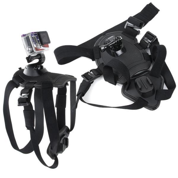 GoPro SJCAM 対応 ドッグハーネス 愛犬の胸や背中にカメラを装着 ペット目線の動画撮影に アクションカメラ HERO SJ4000 SJ5000 SJ5000X SJ6 CHI-CAM-HARNESS|chic|02