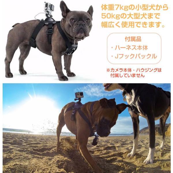 GoPro SJCAM 対応 ドッグハーネス 愛犬の胸や背中にカメラを装着 ペット目線の動画撮影に アクションカメラ HERO SJ4000 SJ5000 SJ5000X SJ6 CHI-CAM-HARNESS|chic|03