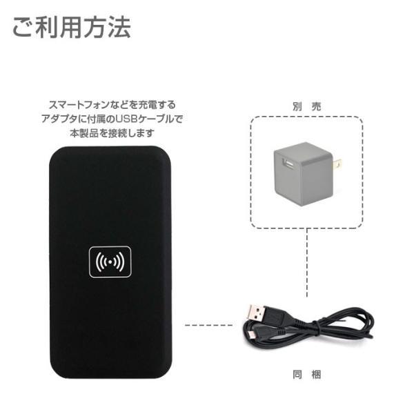Qi 充電器 スマートフォン おくだけ ワイヤレス 充電 パッド  ゆうパケット 送料無料 CHI-MC-02A chic 02