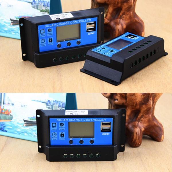 USB ソーラー充電コントローラー 20A 12V/24V デュアル USB出力 ソーラーレギュレータ CHI-KLD1220|chic|03