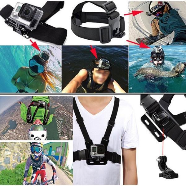 激安セール♪ SJCAM GoPro 対応 アクセサリー 49点セット アクションカメラ ウェアラブルカメラ HERO6 HERO5 M20 SJ4000 SJ5000 SJ5000X SJ6 SJ7 SJ8 GP-PARTS49|chic|02