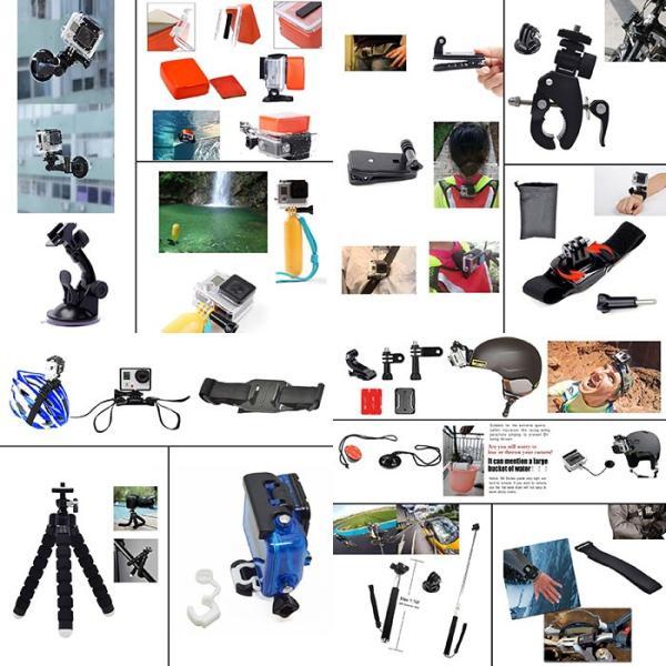 激安セール♪ SJCAM GoPro 対応 アクセサリー 49点セット アクションカメラ ウェアラブルカメラ HERO6 HERO5 M20 SJ4000 SJ5000 SJ5000X SJ6 SJ7 SJ8 GP-PARTS49|chic|03