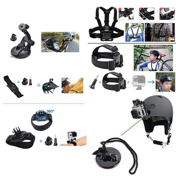 激安セール♪ SJCAM GoPro 対応 アクセサリー 49点セット アクションカメラ ウェアラブルカメラ HERO6 HERO5 M20 SJ4000 SJ5000 SJ5000X SJ6 SJ7 SJ8 GP-PARTS49|chic|04