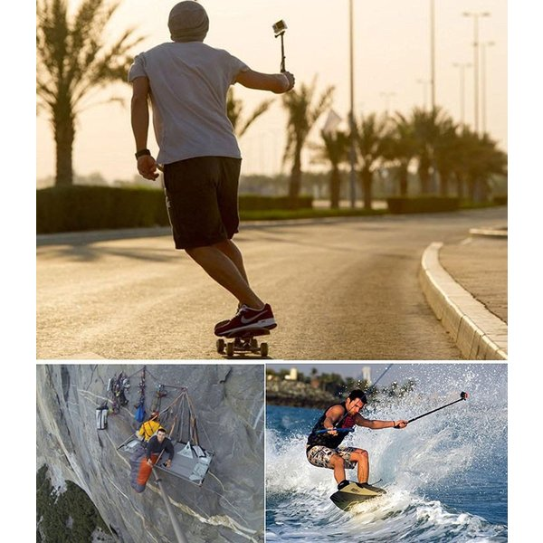 GoPro SJCAM 対応 防水 自撮りスティック アクションカメラ セルカ棒 伸縮可能 スポーツ 自撮り Hero5 Hero6 SJ4000 SJ5000 SJ5000X M20 SJ6 SJ7 CHI-SJ-GZPG|chic|02