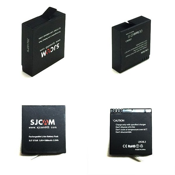 値下げしました! SJCAM 純正 アクションカメラ リチウムイオン バッテリー 新型 SJ7 対応 1000mAh  ゆうパケットで送料無料  CHI-SJCAM-BAT-SJ7|chic|02