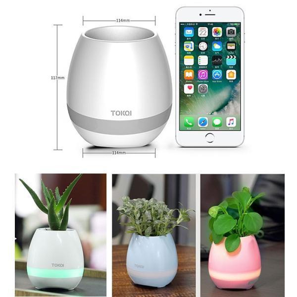 鉢植え兼用 Bluetoothスピーカー 音楽植木鉢 鉢植えライト 植物ランプ ピアノプレイ USB充電式 ◇CHI-KG-TOKQI|chic|06