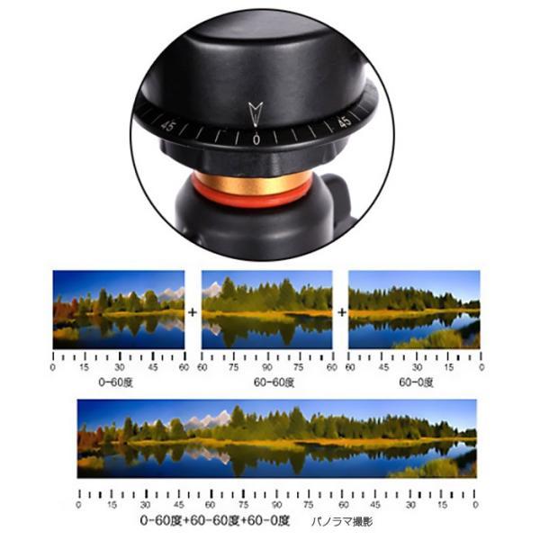 360度回転 雲台 カメラ三脚ボール パノラマ撮影 デジタル一眼レフカメラ ビデオカメラ 重さ580g ボトムネジ穴3/8 トップネジ1/4 耐荷重量6kg ◇CHI-Q-08