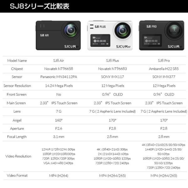 激安セール♪ SJCAM SJ8 Plus アクションカメラ スポーツカメラ 正規品 4K 30fps 防水 WiFi 2.33インチ ワイド液晶 レビューを書いて予備バッテリープレゼント♪ chic 07
