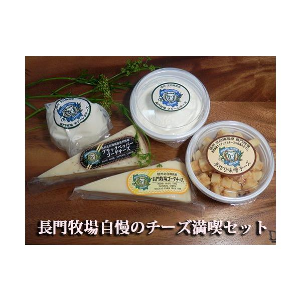 【お歳暮・お中元】【送料込・単品よりお得】牧場直送 長門牧場自家製ナチュラルチーズ 5種詰め合わせセット