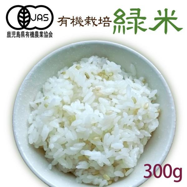 有機緑米 300g(メール便送料無料)有機JAS 有機米 無農薬 有機栽培 雑穀米 古代米 玄米 無添加 無着色 国産 みどりごめ(代引不可)