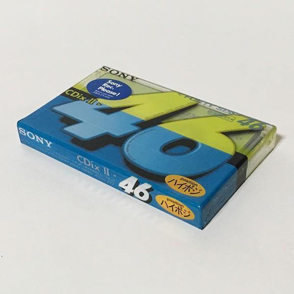 Sony ハイポジション(ハイポジ) オーディオカセットテープ CdixII 46分 C-46CDX2E ※新古品