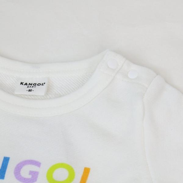 子供服 長袖 ロンパース カバーオール ベビー服 キッズ カンゴール 裏毛 ロゴ 女の子 KANGOL 20春|chil2|05