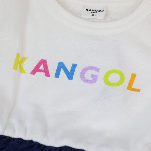 子供服 長袖 ロンパース カバーオール ベビー服 キッズ カンゴール 裏毛 ロゴ 女の子 KANGOL 20春|chil2|06
