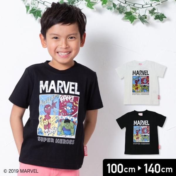 マーベル MARVEL キッズ 子供服 キャラクター コミック 半袖 Tシャツ 男の子 トップス 19夏 100 110 120 130 140cm chil2