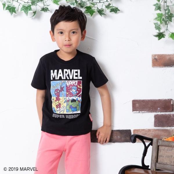 マーベル MARVEL キッズ 子供服 キャラクター コミック 半袖 Tシャツ 男の子 トップス 19夏 100 110 120 130 140cm chil2 02