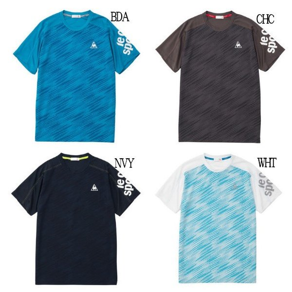 ルコックスポルティフ 半袖シャツ Tシャツ QMMNJA08 メンズ 2019SS スポーツ トレーニング ゆうパケット(メール便)対応|chispo-b|02