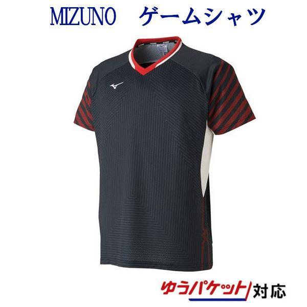 ミズノ ゲームシャツ(日本ユニシス着用モデル) 72MA9001 メンズ 2019SS バドミントン テニス ゆうパケット(メール便)対応 2019最新 2019春夏|chispo