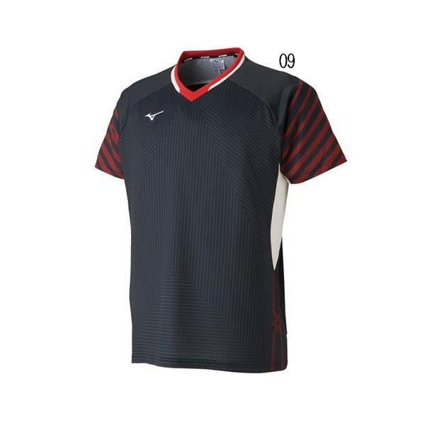 ミズノ ゲームシャツ(日本ユニシス着用モデル) 72MA9001 メンズ 2019SS バドミントン テニス ゆうパケット(メール便)対応 2019最新 2019春夏|chispo|02