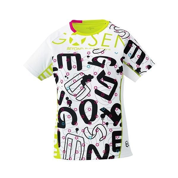 ゴーセン レディース ファンプラシャツUT1701バドミントン テニス Tシャツ 半袖 レディース GOSEN 2017年春夏モデル ゆうパケット(メール便)対応 在庫品|chispo|02