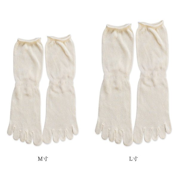 【冷えとり重ね履き】   ワイルドシルク100% 5本指ソックス 五本指靴下 silk シルク 靴下|chiyoji|02