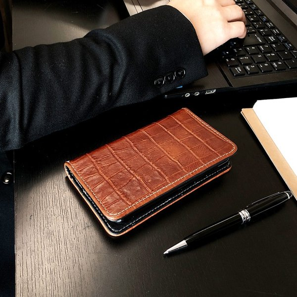 AQUOS R compact 701SH ケース 701SHカバー 701SHケース 手帳 クロコダイル型押し本革 手帳型 アクオスR2 コンパクト SHV41 SH-M06 にも対応 SHM06 カバー|chleste|02