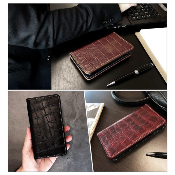 iPhoneXS iPhoneX アイフォン iPhone XS X ケース アイフォンXS アイフォンX 手帳 クロコダイル型押し本革 手帳型 アイフォーン アイフォーンXS アイフォーンX|chleste|14