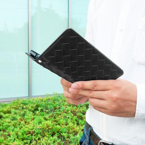 Android one S5 ケース S5ケース S5カバー 大判メッシュ 手帳型 AQUOS sense2 かんたん SHV43K SH-01L SHV43 SH-M08 にも対応|chleste|03