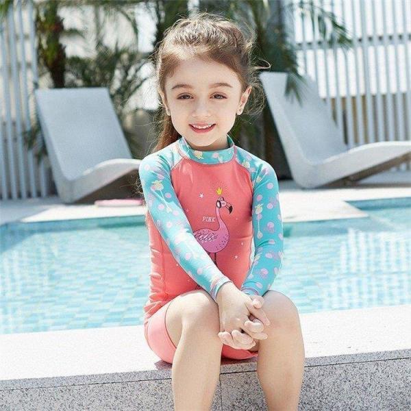 女の子水着ラッシュガードキッズセパレート子供子ども新作水着上下セットスイムウェアスクール水着