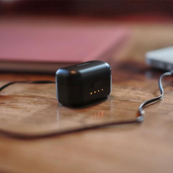 NUARL(ヌアール) NT01 Bluetooth(ブルートゥース)/完全ワイヤレス/IPX4耐水/5h再生/マイク付/軽量5g/左右独立ステレオイヤホン(ブラックシルバー)