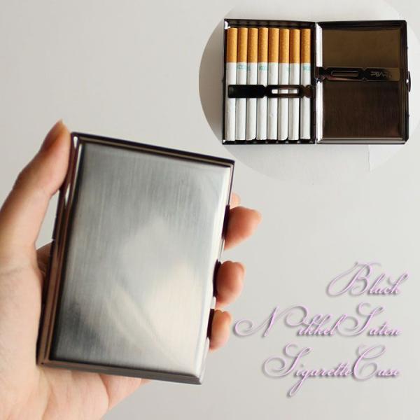 カジュアルメタル16 (85mm) =(ci)メール便送料無料 ブラックニッケル タバコ ニッケルサテン シガレット 坪田パール Tsubota Pearl  =
