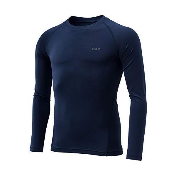 (テスラ)TESLAキッズ保温コンプレッションウェアスポーツウェア 吸湿発熱・UVカット 起毛ランニングウェアラウンドネックスポ