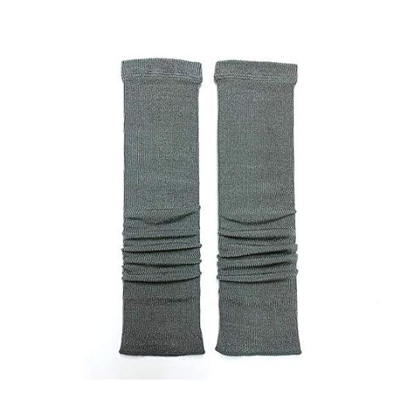 絹糸屋さんの『ぐぃーんとのびる。』薄手シルクレッグウォーマー ショート40cm丈 (チャコールグレー)