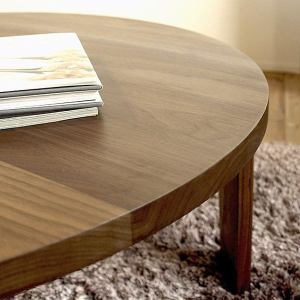 こたつ テーブル ローテーブル 丸 折りたたみ 無垢 北欧 90cm ウォールナット材