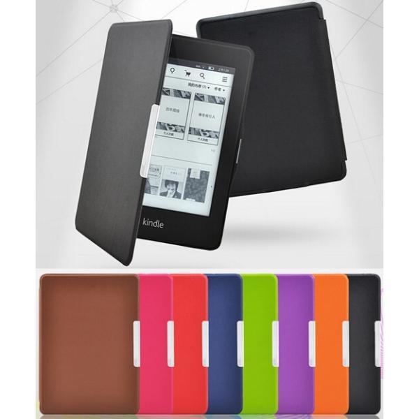 kindle Paperwhite1/2/3兼用手帳型レザーケース/電子書用カバー/手帳軽量カバー/手軽に装着/マグネット|chokuten-shop